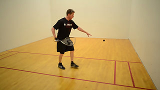 A Killer Drive Serve in Racquetball