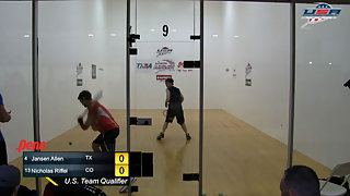 Allen vs. Riffel USA Racquetball Nationals Men's Single Top 16
