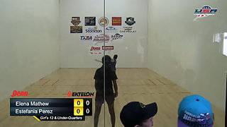 Mathew vs. Perez USAR Nationals Girls Singles 12 and Under