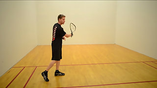 Racquetball How to hit a Z-Serve