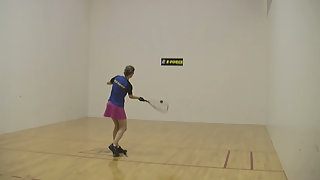Some great serving tips in racquetball