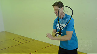 Racquetball How to hit a perfect backhand swing
