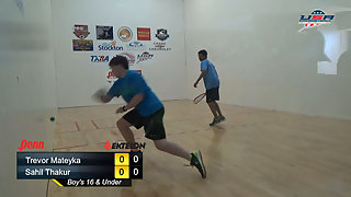Mateyka vs. Thakur USAR Nationals Boy's Singles 16 Under Gold