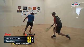 Soomro vs. Wargo USAR Nationals Boys Singles 16 Under Gold