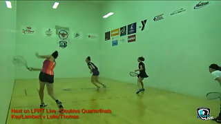 Key/Lambert vs. Lotts/Thomas LPRT Battle at the Alamo Doubles Quarters 2015