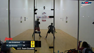 Bredenbeck vs. Barshaw USA Racquetball Nationals Men's Singles Top 16