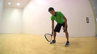 Racquetball How to hit a Backhand
