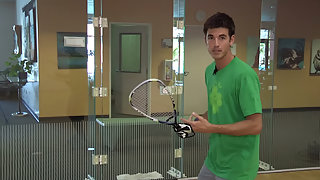 Racquetball How to hit a offensive shot off the back wall