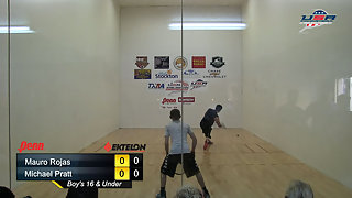 Rojas vs. Pratt USAR Nationals Boys Singles 16 and Under Gold