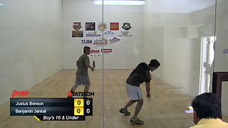 Benson vs. Jenkel USAR Nationals Boys 16 and Under Singles