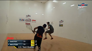 Horn vs. Rojas USA Racquetball Nationals Men's US Team Semis
