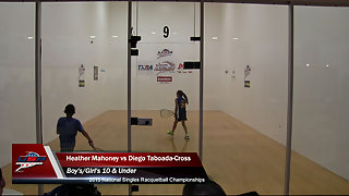 Mahoney vs. Taboada-Cross USA Racquetball Nationals Kids 10 Under