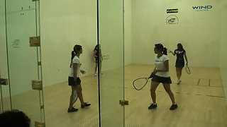 Jr Worlds Racquetball 2011 Girls 16 Doubles USA vs Bolivia