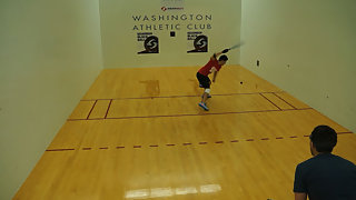 Gutierrez vs. Cardona WRT Mt. Rainier Open Finals Almost Ace Serve